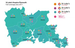 These are the areas covered by St Luke's Hospice Plymouth